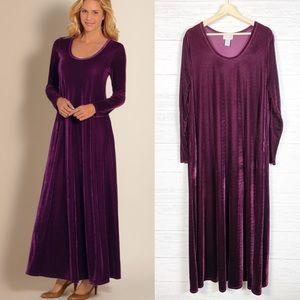 Soft Surroundings • Santiago Stretch Velvet Dress